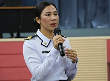"January 22nd, 2018 honored by Flight Lieutenant Dr. Neeranut Glomdee lectured in General Education class in topic of ""Inside power and sport power"" at 11.00-14.00 o'clock, Sunandhanusorn meeting hall."