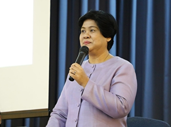"""วันที่ 2 กุมภาพันธ์ 2561 ได้รับเกียรติจาก ผศ.บัวผัน สุพรรณยศ บรรยายรายวิชาศึกษาทั่วไป หัวข้อ """" ศิลปะการใช้ภาษาไทยในบทเพลงพื้นบ้าน """""""