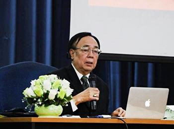 """วันที่ 15 มีนาคม 2561 ได้รับเกียรติจาก ดร.สมชาย สังข์เกษม บรรยายรายวิชาศึกษาทั่วไป หัวข้อ """" สังคมไทยกับเทคโนโลยี"""""""