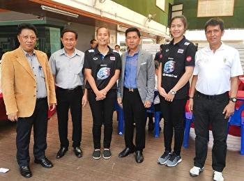 """วันที่ 15 มีนาคม 2561 ได้รับเกียรติจาก คุณวิลาวัณย์ อภิญญาพงศ์ และ คุณทัดดาว นึกแจ้ง สองนักตบลูกยางทีมชาติไทยบรรยายรายวิชาศึกษาทั่วไป หัวข้อ """" การจัดกิจกรรมนันทนาการ"""""""