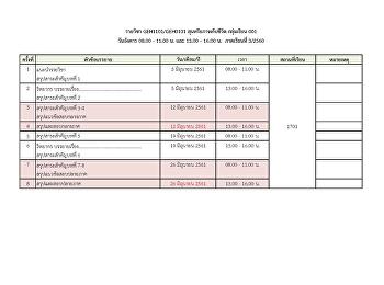 นักศึกษาสามารถตรวจสอบตารางเรียนหมวดรายวิชาศึกษาทั่วไป ปีการศึกษา 3/2560 (Summer) ได้แล้วที่นี่!!