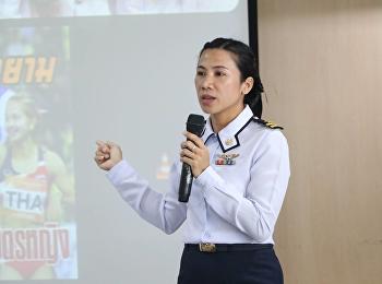 """วันที่ 30 พฤษภาคม 2561 ได้รับเกียรติจาก เรืออากาศเอกหญิง ดร.ณีรนุช กล่อมดี บรรยายรายวิชาศึกษาทั่วไป หัวข้อ """"พลังในตัวตน พลังในกีฬา"""""""