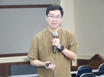 """วันที่ 31 สิงหาคม 2561 สำนักวิชาการศึกษาทั่วไปฯ ได้รับเกียรติจาก ผู้ช่วยศาสตราจารย์ ดร.บรรพต พิจิตรกำเนิด บรรยายหัวข้อ """"การตีความสารสนเทศ"""""""