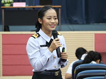 วันที่ 26 ตุลาคม 2561 สำนักวิชาการศึกษาทั่วไปและนวัตกรรมการเรียนรู้อิเล็กทรอนิกส์ จัดบรรยายรายวิชาศึกษาทั่วไป โดยได้รับเกียรติจาก เรือโทหญิงสุธิญา พูนเอียด