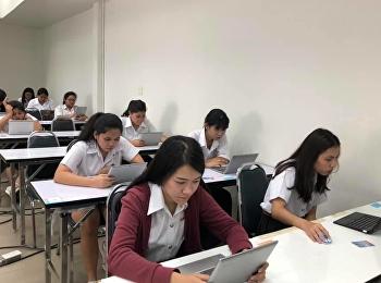 บรรยากาศการสอบรายวิชาศึกษาทั่วไป ปลายภาคเรียน 1/2561 ห้องสอบ 1732