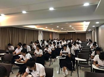 บรรยากาศการสอบรายวิชาศึกษาทั่วไป ปลายภาคเรียน 1/2561 ห้องสอบ 29201