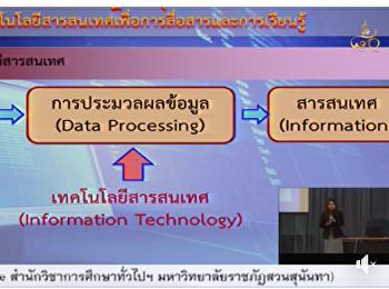 GES0101 วิชาเทคโนโลยีสารสนเทศเพื่อการสื่อสารและการเรียนรู้ เวลา 08.00 - 11.00 น.