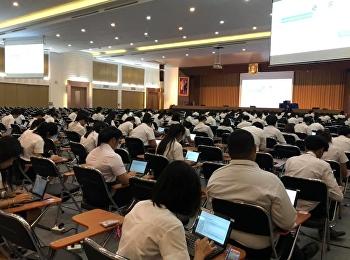 บรรยากาศการสอบรายวิชาศึกษาทั่วไปฯ กลางภาคเรียนเรียนที่ 1/2562