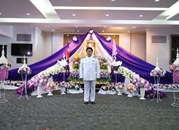 Director of the Office of General Education Suan Sunandha Rajabhat University attends auspicious ceremony on the occasion of the birthday celebrations of Queen Sutida. Patchara Suthaphimollaksanaram
