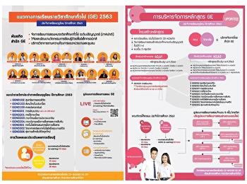 การจัดการเรียนรายวิชาศึกษาทั่วไป ประจำภาคเรียนฤดูร้อน ปีการศึกษา 2563